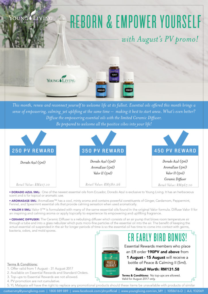 Young Living Aug PV Promo