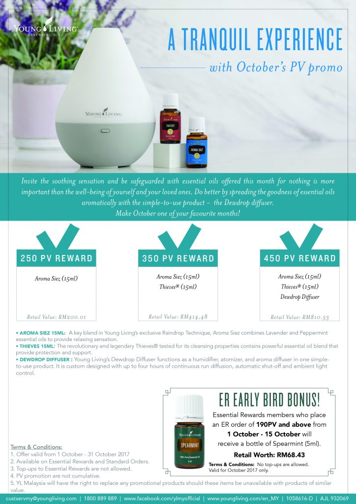 Young Living October 2017 promo