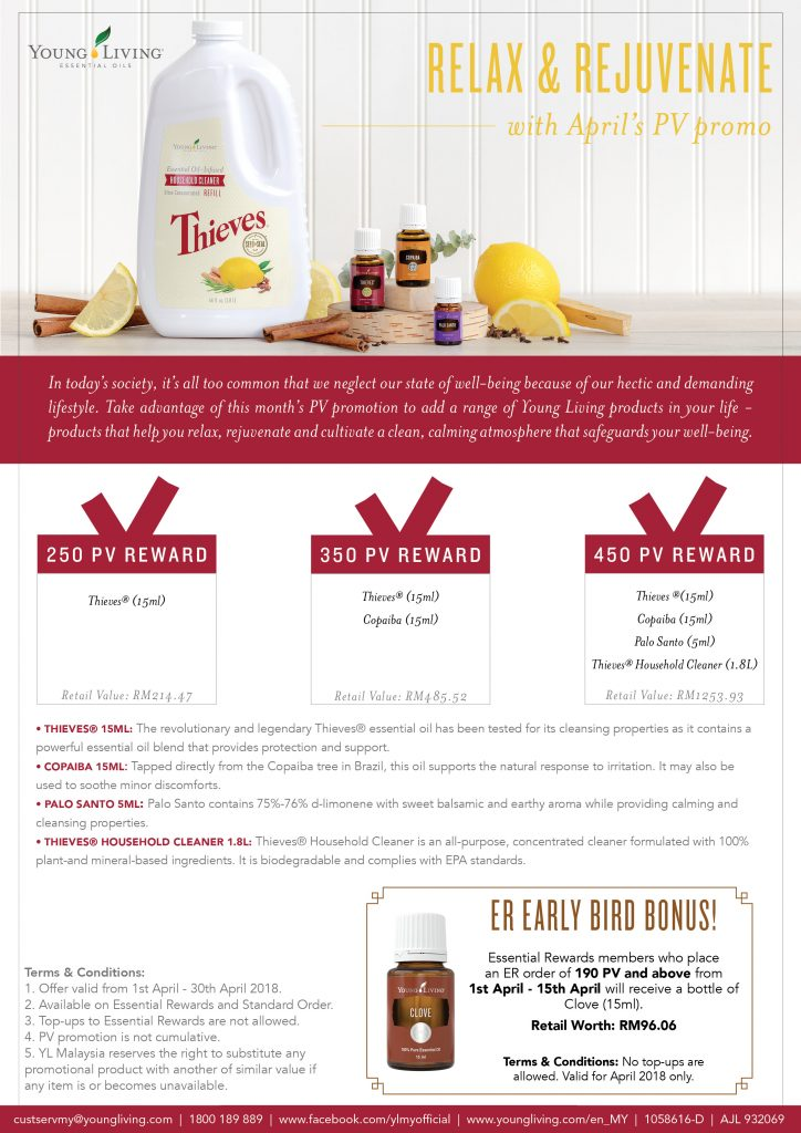 Young Living April 2018 promo